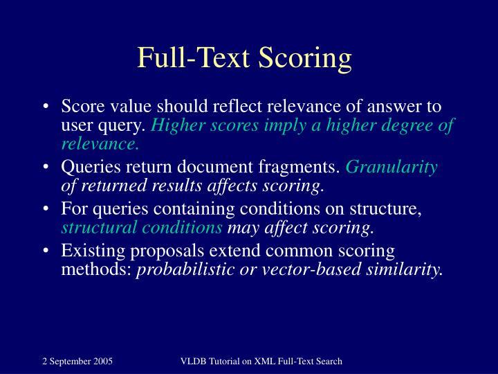 Full-Text Scoring