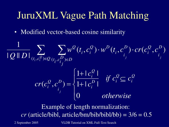 JuruXML Vague Path Matching