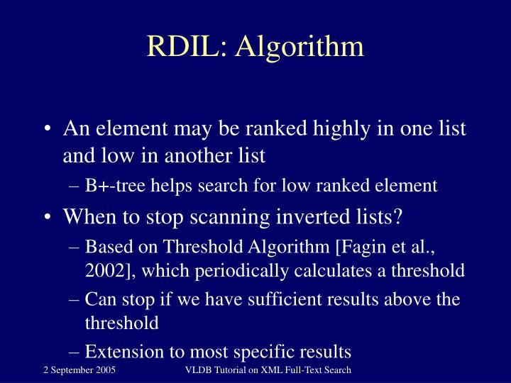 RDIL: Algorithm