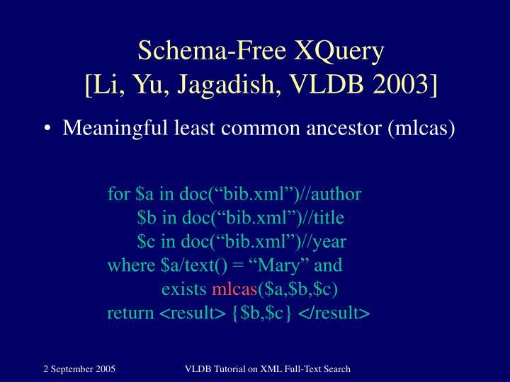 Schema-Free XQuery