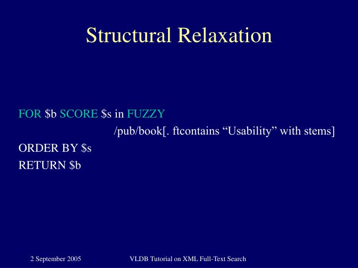 Structural Relaxation
