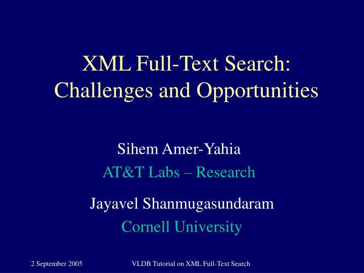 XML Full-Text Search: