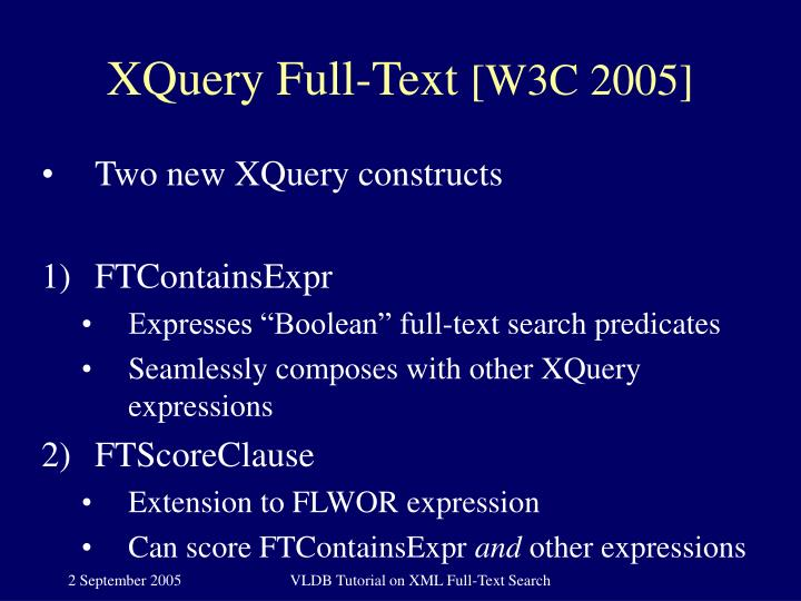 XQuery Full-Text