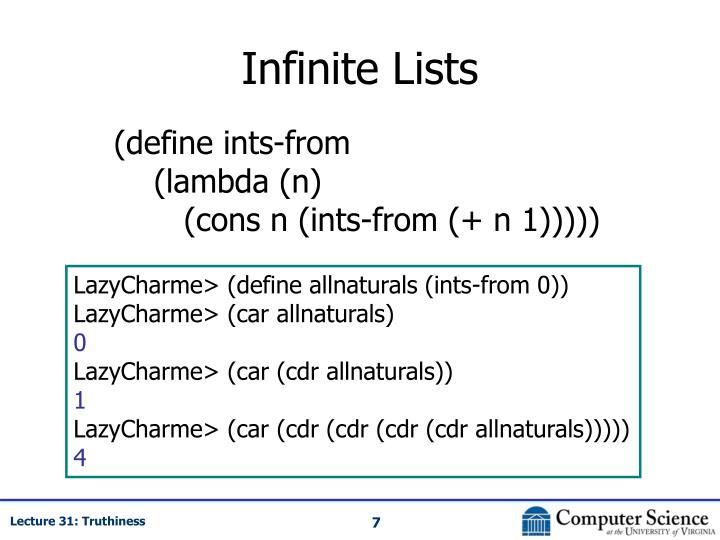 Infinite Lists