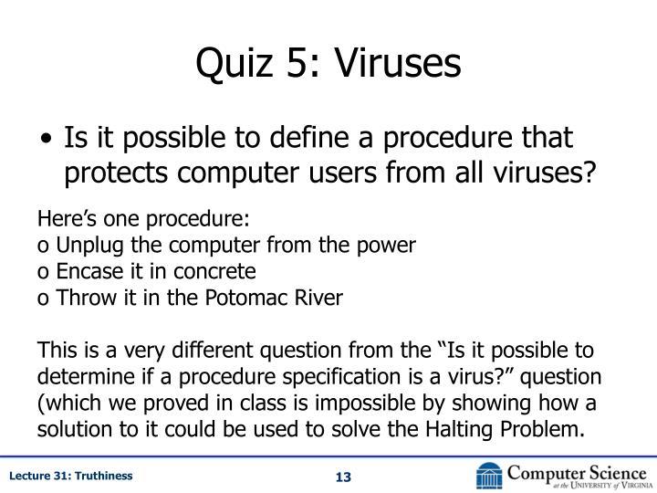 Quiz 5: Viruses