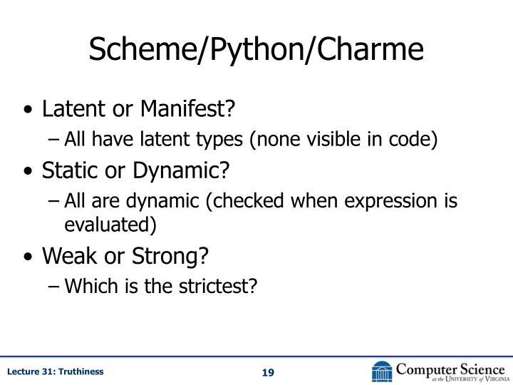 Scheme/Python/Charme