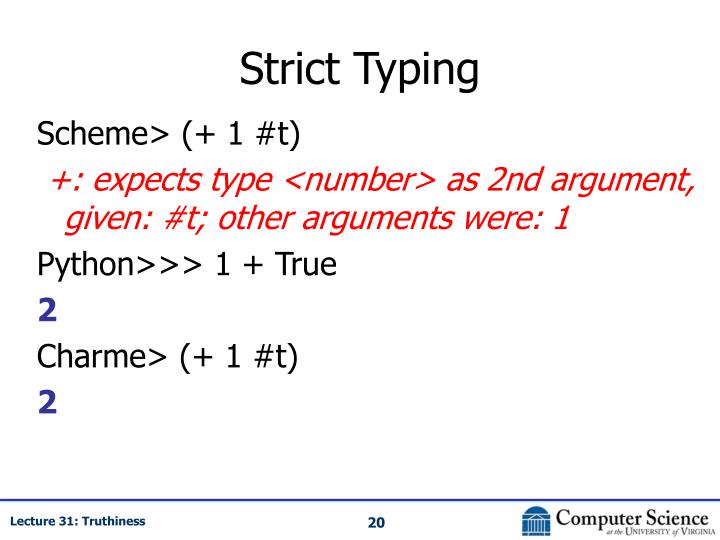 Strict Typing