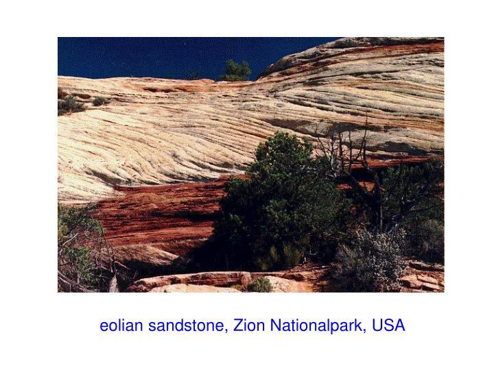 eolian sandstone, Zion Nationalpark, USA