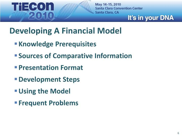 Developing A Financial Model