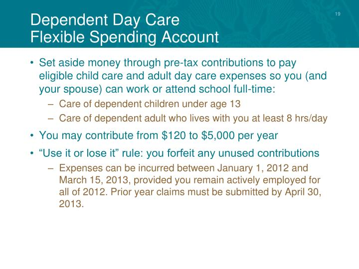 Dependent Day Care
