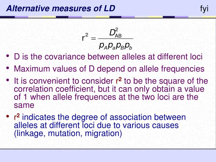 Alternative measures of LD