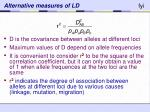alternative measures of ld