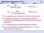 alternative measures of ld1