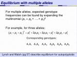 equilibrium with multiple alleles