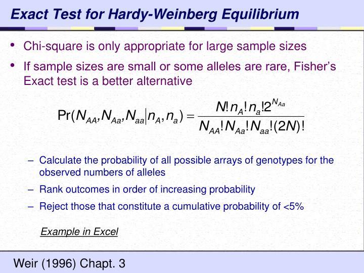 Exact Test for Hardy-Weinberg Equilibrium