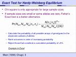exact test for hardy weinberg equilibrium