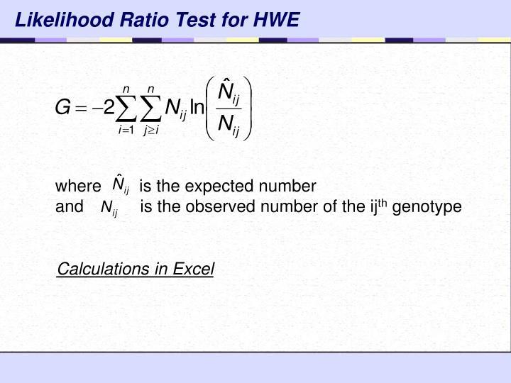 Likelihood Ratio Test for HWE