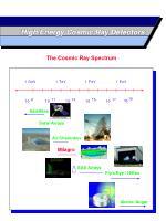 high energy cosmic ray detectors
