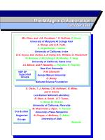 the milagro collaboration october 1998