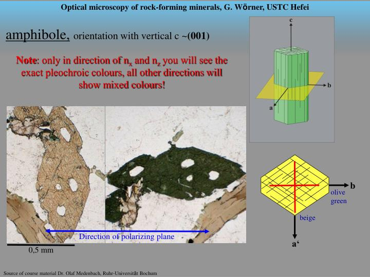 Compact course microscopy of rock forming minerals part 4 amphiboles and pyroxenes