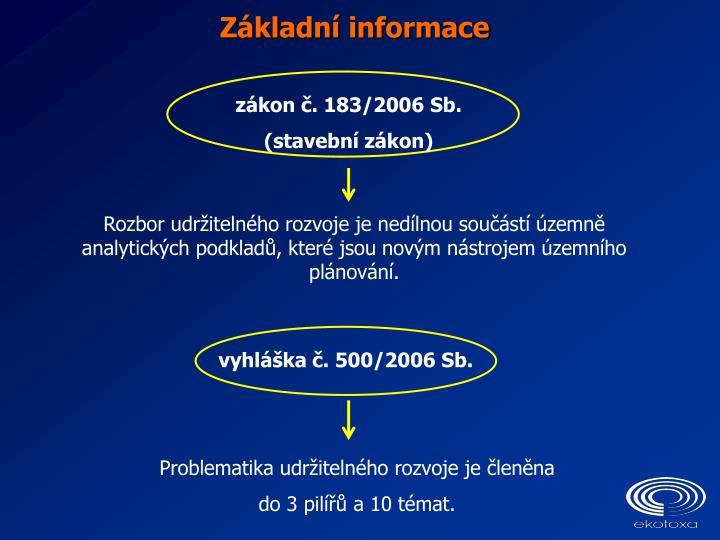 vyhláška č. 500/2006 Sb.