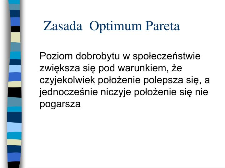 Zasada  Optimum Pareta