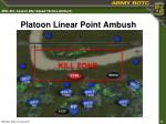 platoon linear point ambush