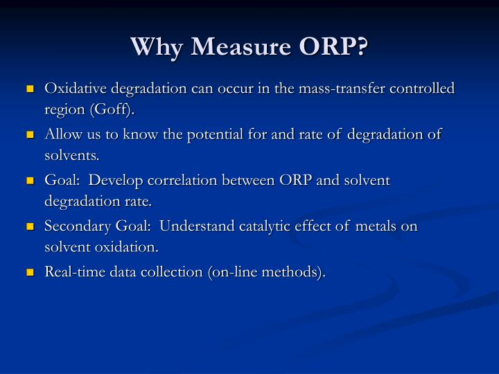 Why Measure ORP?