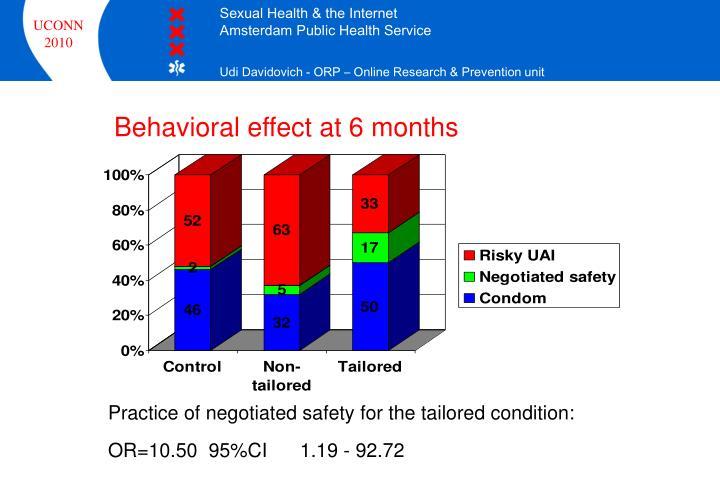 Behavioral effect at 6 months
