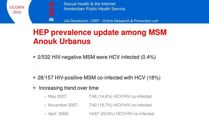 HEP prevalence update among MSM