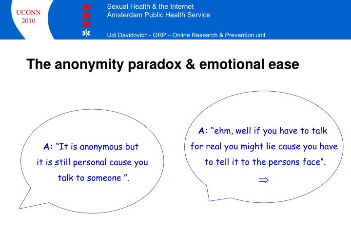 The anonymity paradox & emotional ease