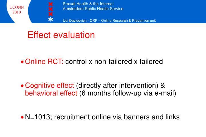 Effect evaluation