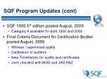 sqf program updates cont
