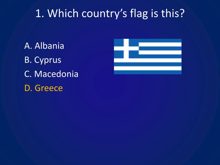 1 which country s flag is this