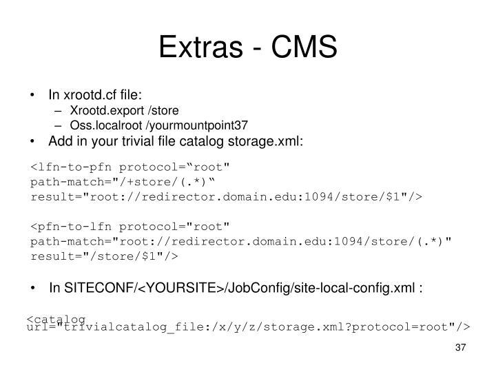 Extras - CMS