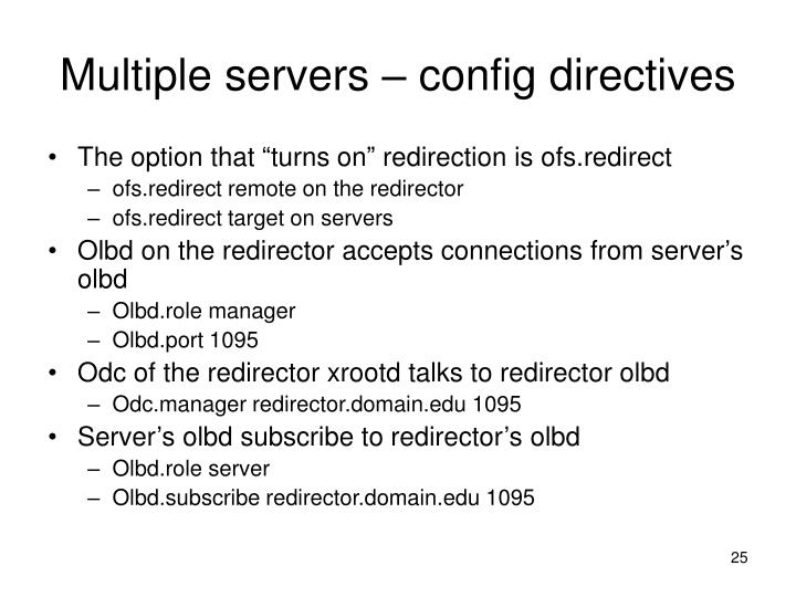 Multiple servers – config directives