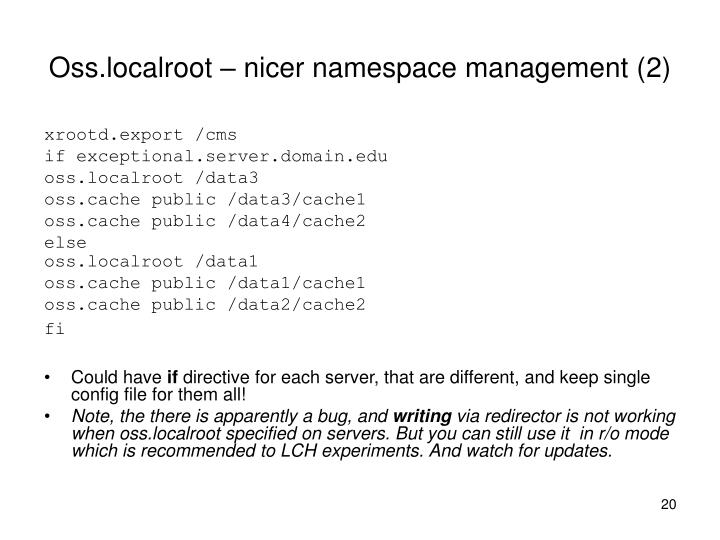 Oss.localroot – nicer namespace management (2)