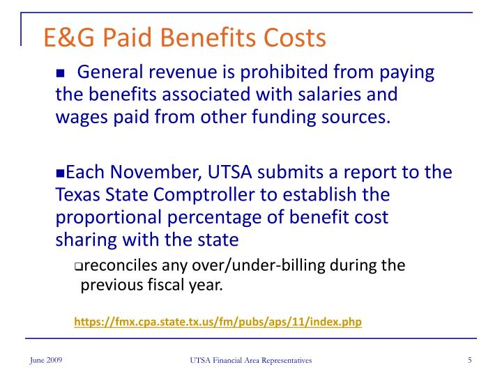 E&G Paid Benefits Costs