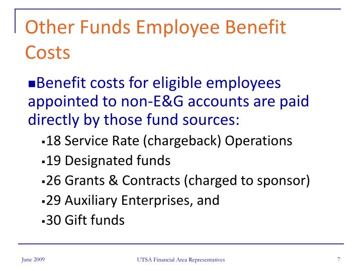 Other Funds Employee Benefit Costs