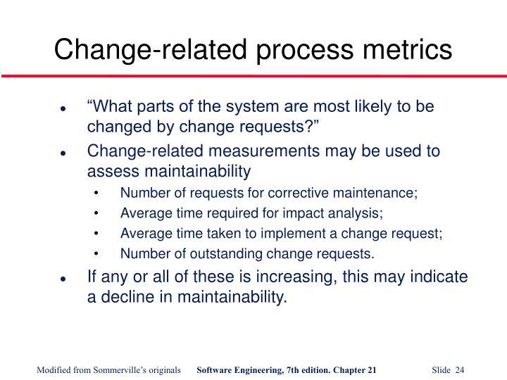 Change-related process metrics