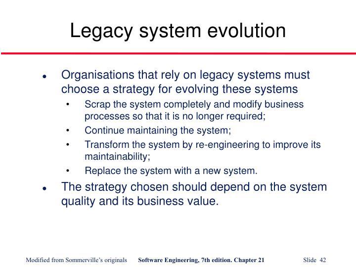Legacy system evolution