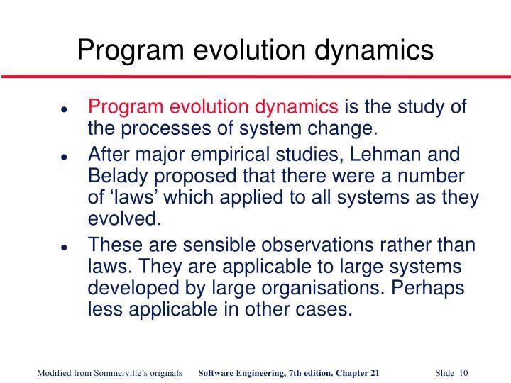 Program evolution dynamics
