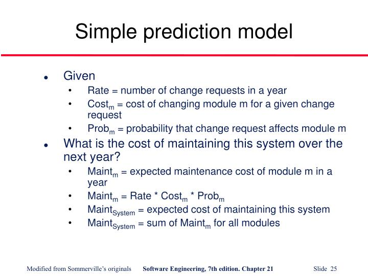 Simple prediction model