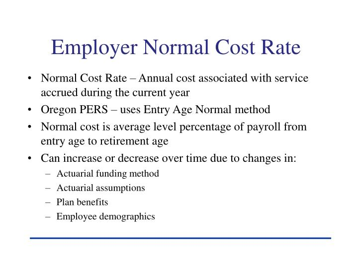 Employer Normal Cost Rate