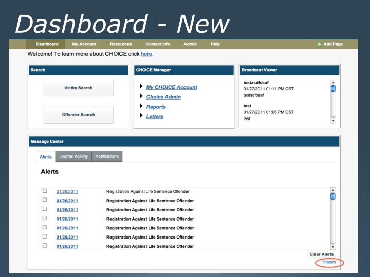 Dashboard - New