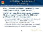 cdbg non public services fair housing