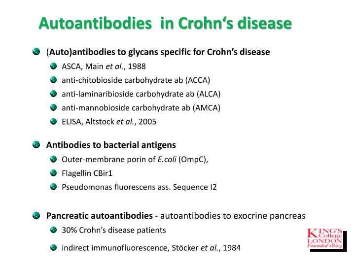 Autoantibodies  in Crohn's disease