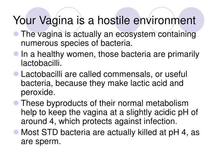 Your Vagina is a hostile environment