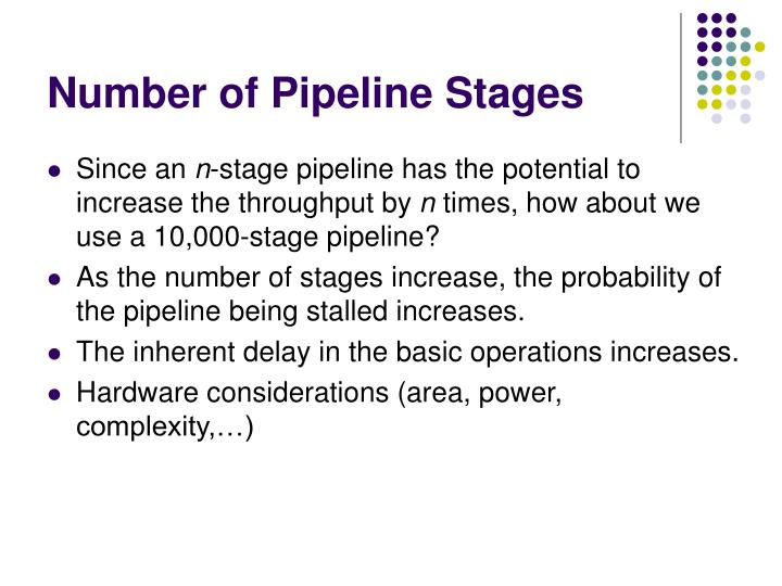 Number of Pipeline Stages