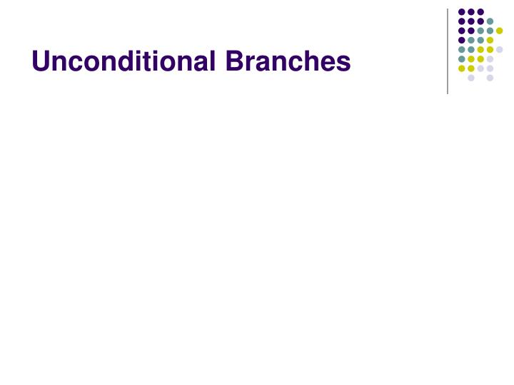 Unconditional Branches